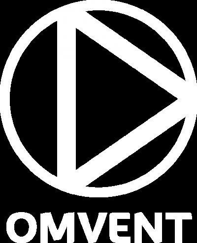 Omvent logo vektoriserad rgb vit